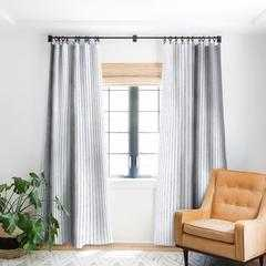 AEGEAN WIDE STRIPE DRAPERY PANEL - Wander Print Co.