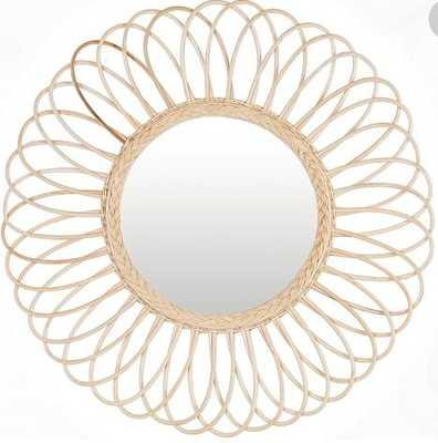 Elizabeth Round Mirror, Natural, Large - Pottery Barn