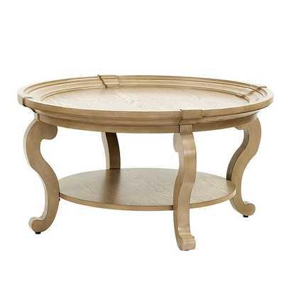 Carrington Coffee Table- Washed Oak - Ballard Designs