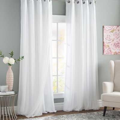 "Brockham Solid Opaque Thermal Grommet Curtain Panels, Set of 2, 96"" - Wayfair"