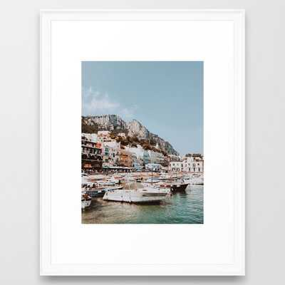 banchinella porto, italy Framed Art Print - Society6