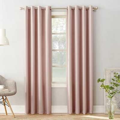 "Seymour Room Darkening Grommet Curtain Panel Blush 54""x95"" - Sun Zero - Target"