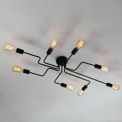 Steel Art 8-Light Semi Flush Mount - Wayfair