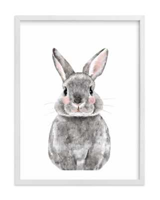 "Baby Animal Rabbit - 18"" x 24"" - Wood Frame - Minted"