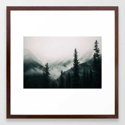 Over the Mountains and trough the Woods - Forest Nature Photography Framed Art Print by Stay Positive Design - Society6
