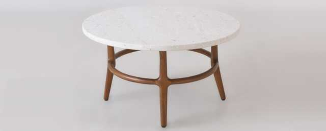 Cline Marble Top Coffee Table - Sixpenny