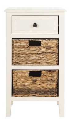 Everly Drawer Side Table - Distressed White - Arlo Home - Arlo Home