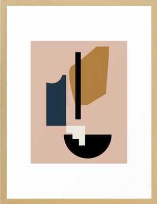 Shape study #2 - Lola Collection Framed Art Print MINI 10 x 12 - Society6