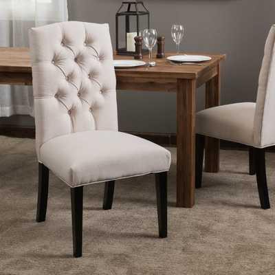 Oralia Tufted Linen Upholstered Side Chair (Set of 2) - Wayfair