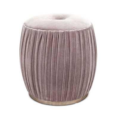 Bella Velvet Upholstered Ottoman - Mercer Collection