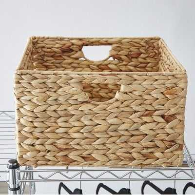 Wayfair Basics Woven Hyacinth Storage Basket Set - Wayfair