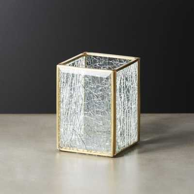 Shatter Square Glass Pencil Holder - CB2
