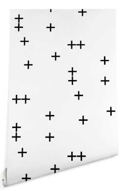 CROSS ON WHITE  Wallpaper - Wander Print Co.