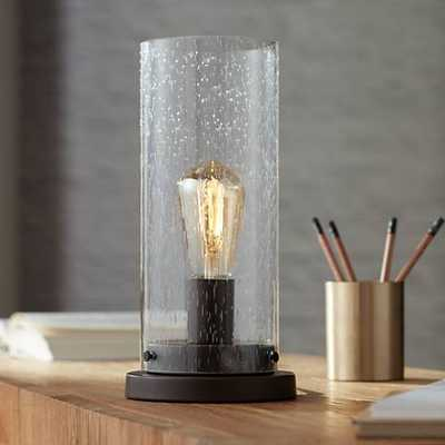 """Libby Seeded Glass 12"""" High Edison Bulb Accent Lamp - Lamps Plus"""