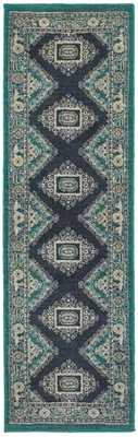 EVELINE RUG, TEAL AND NAVY - Lulu and Georgia