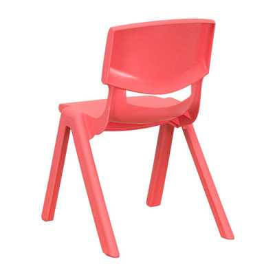 Red Plastic Stackable School Chair with 12 in. Seat Height - Home Depot