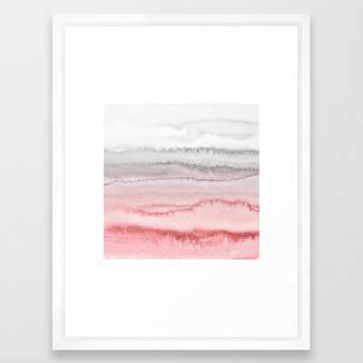WITHIN THE TIDES - ROSE TO GREY Framed Art Print - Society6
