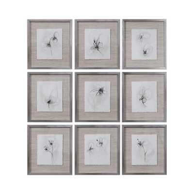 Neutral Floral Gestures Framed Print - Hudsonhill Foundry