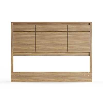 Gravity Rustic Oak Queen Headboard - Home Depot