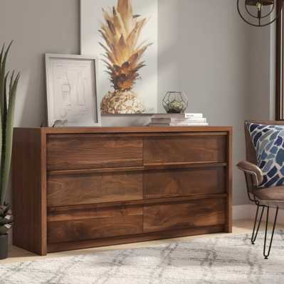 Posner 6 Drawer Double Dresser /  Grand Walnut - Wayfair