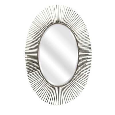 Navio Silver Leaf Abstract Wall Mirror - Mercer Collection