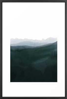 mountain horizon 3 Framed Art Print by Iris Lehnhardt - Society6