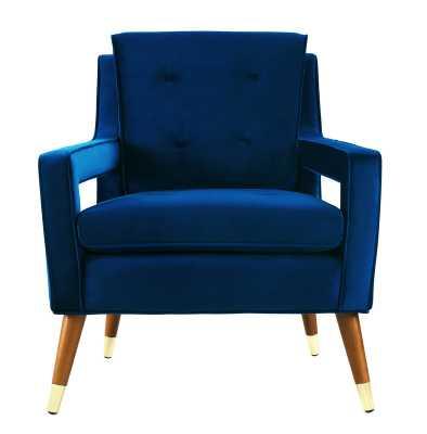 Alverstone Velvet Armchair - AllModern