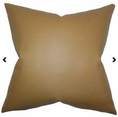 Quintas Solid Pillow Khaki - 18x18 - Cover Only - Linen & Seam
