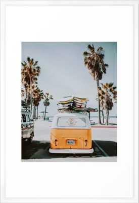 surf van / venice beach, california Framed Art Print - Society6