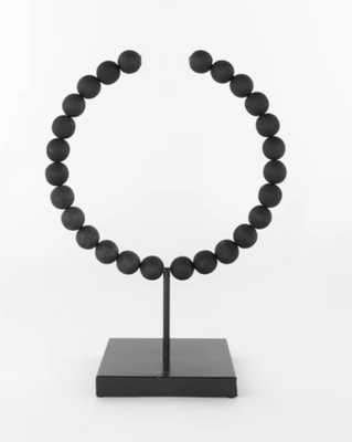 Wooden Semi-Circle Object, Black, Large - McGee & Co.