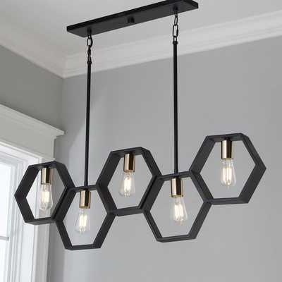 MODERN HEXAGON LINEAR CHANDELIER - Shades of Light