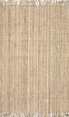 Hand Woven Chunky Loop Jute Rug 7'6x9'6 - Loom 23