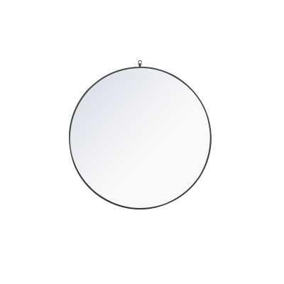 Yedinak Accent Mirror, Black - Wayfair
