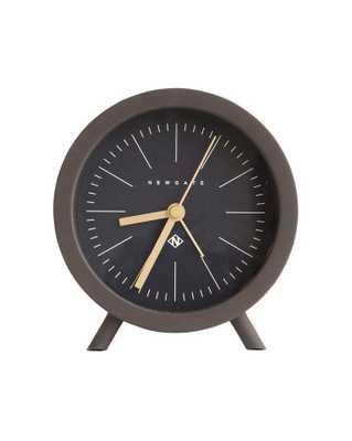 MID CENTURY ALARM CLOCK - BROWN & BLACK - McGee & Co.