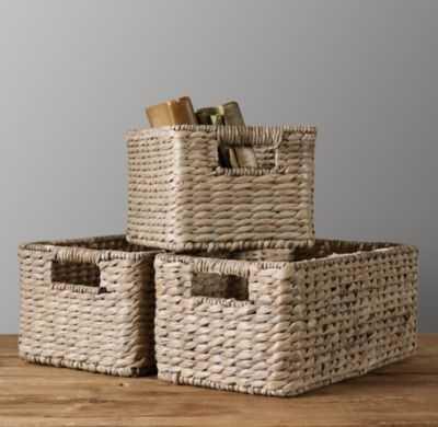 seagrass shelf basket - RH Baby & Child