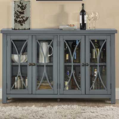Sierra Madre 4 Door Accent Cabinet, Blue - Wayfair