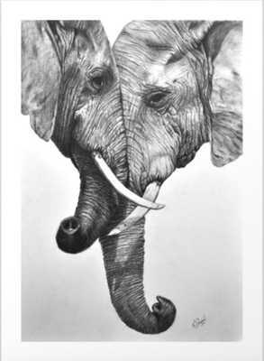 Elephant Love Art Print 13 x 18 - Society6