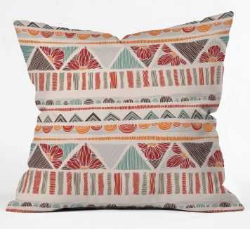ETHNIC BOHO STRIPES Throw Pillow By Valentina Ramos - Wander Print Co.
