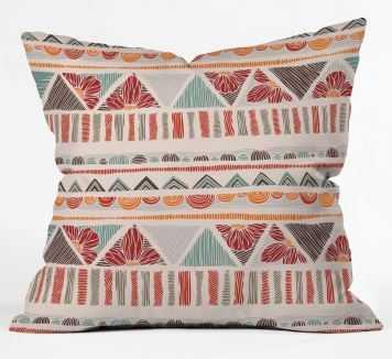 ETHNIC BOHO STRIPES Throw Pillow By Valentina Ramos - Wander Print Co.