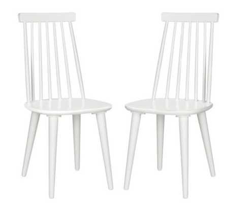 White Flynn Side Chairs, Pair - One Kings Lane