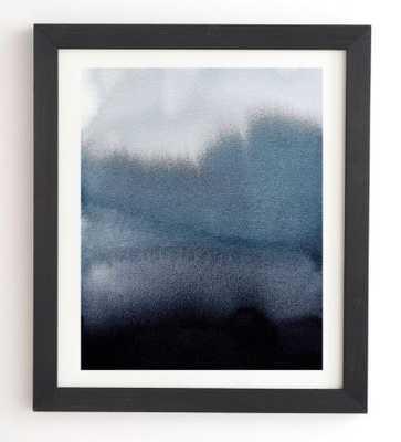 IN BLUE Black Framed Wall Art - Wander Print Co.