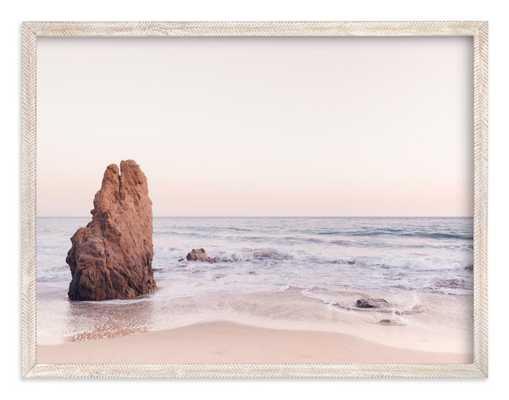 malibu view no. 2 - 30 x 40 - Malibu View No. 2 - Whitewashed Herringbone - Standard - Minted