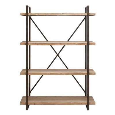 Hardwick Metal Wood Bookcase - Wayfair