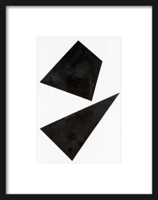 "Out of Shape - Thin Black Wood Frame / with matte/14.5""x18.5"" - Artfully Walls"
