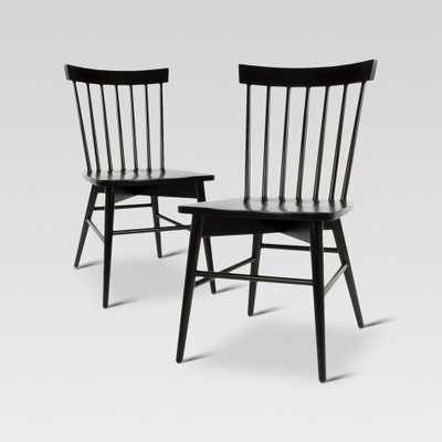 Windsor Dining Chair - Black (Set of 2) - Threshold - Target