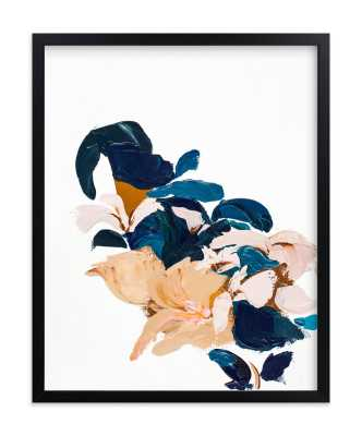 Abstract Botanical - standard - rich black wood frame - 16x20 - Minted