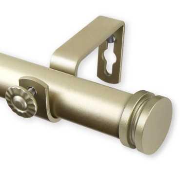 Elisha Curtain Single Rod-Light Gold - Wayfair