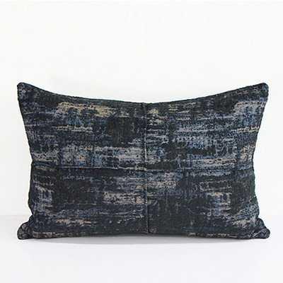 Luxury Metallic Chenille Lumbar Pillow - Wayfair
