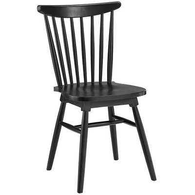AMBLE DINING SIDE CHAIR IN BLACK - Modway Furniture