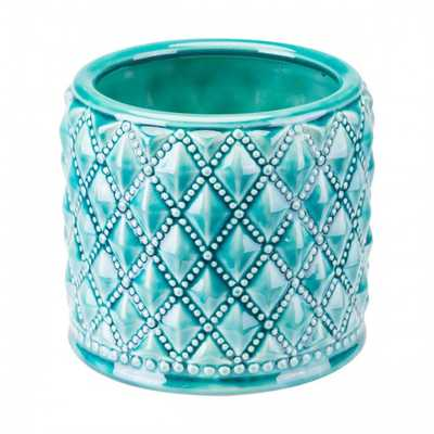 Tufted Planter Teal - Zuri Studios